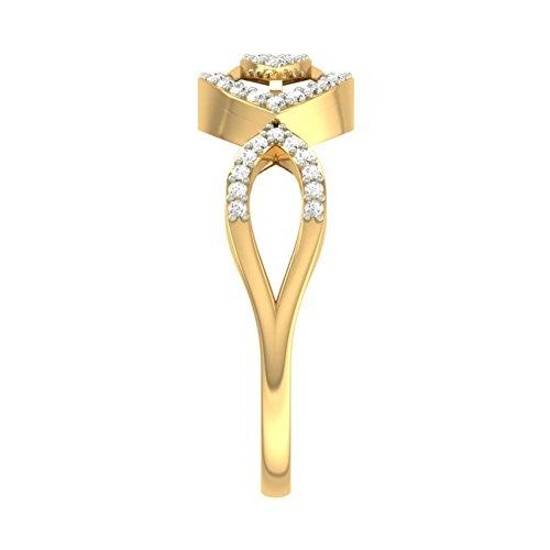 14K Or jaune 0,31CT TW Round-cut-diamond (IJ | SI) en diamant