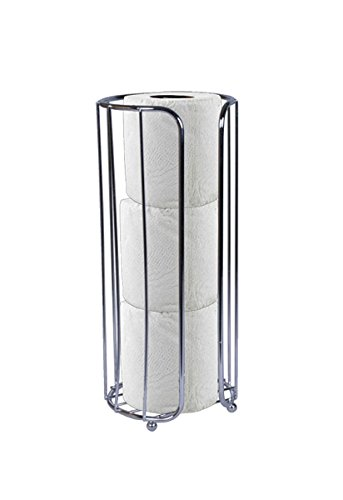 Home Basics Toilet Paper Holder Chrome Bath Tissue Reserve Silver TH00708