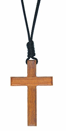 IntercessionTM Wood Cross Crucifix on Cord (2.75 Inches)]()