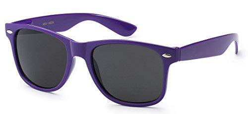 Sunglasses Classic 80's Vintage Style Design (Neon Purple) -