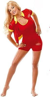 Disfraz de Socorrista Playa para mujer: Amazon.es: Juguetes y juegos
