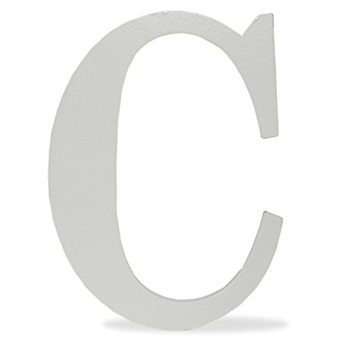 The Lucky Clover Trading LBL24TW-C C Wood Block, 24'' L, White Wall Letter,