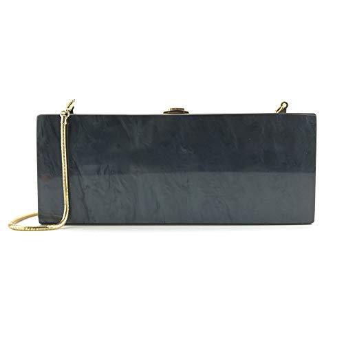 FZHLY acrylique à couleur Party à de unie gamme de marbré sac sacs Black Satchel main bandoulière soirée haut fourre de tout Sac Banquet rqXtOwxZFr