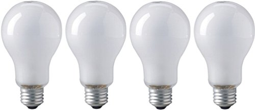EIKO ECA 120V/250W Inside Frosted A-23 E26 Base Photoflood Bulb (Four Pack) (Inside Frosted Light Bulb)