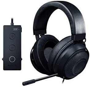 Razer Kraken Tournament Edition THX 7.1 Surround Sound Gaming Headset: Retractable Noise Cancelling Mic - USB DAC -  For PC, PS4, PS5, Nintendo Switch, Xbox One, Xbox Series X & S, Mobile – Black