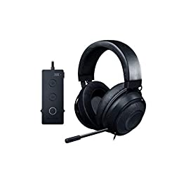 Razer Kraken Tournament Edition THX 7.1 Surround Sound Gaming Headset: Retractable Noise Cancelling Mic – USB DAC – For PC, PS4, PS5, Nintendo Switch, Xbox One, Xbox Series X & S, Mobile – Black