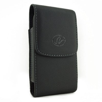 Brand New Black Vertical Leather Cover Belt Clip Side Case Pouch For Palm Treo 700p 700w 700wx 755p