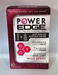 Power Edge Energy Drink Mix, Wild Berry 1.41 Oz (Pack of 2)