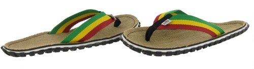 2259027e6519 Bob Marley Fresco Men s Flip Flops Sandals Rasta Print Size 11