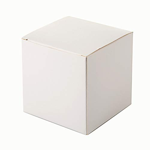 White Candy Boxes 2 x 2 x 2 Inches,White Cardboard Boxes for Crafting, Cupcake Boxes,50pcs