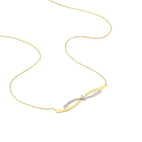 HISTOIRE D'OR - Collier Lisella Or Bicolore Diamant - Femme - Or 2 couleurs 375/1000