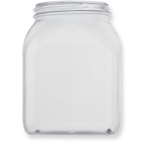Qosina 99885 PVC Wide Neck Jar, Square, 500mL Capacity (Pack of 25) by Qosina (Image #1)
