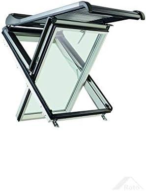 Dachfenster aus Kunststoff Roto mit Eindeckrahmen 65x118