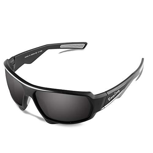 (BangLong Polarized Sports Sunglasses, Cycling Sunglasses for Men Women HD Glasses Driving Running Bike Fishing Golf Tr90)