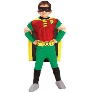 Deluxe Muscle Chest Robin Costume - Medium (Robin Deluxe Costume)