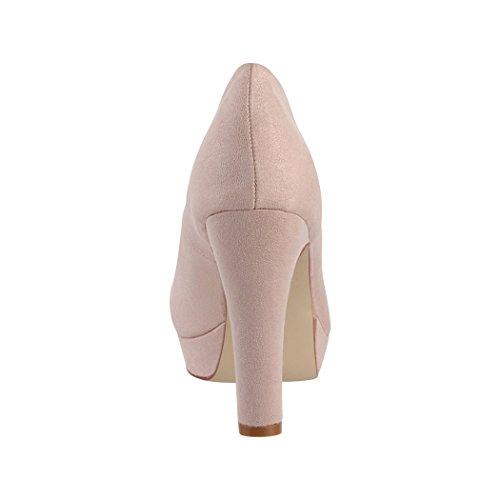 Chaussures Elara Talons Metallic Vernies Beige Hauts Escarpins Lyon Femmes Fête Plateau 8S6pw8aWq