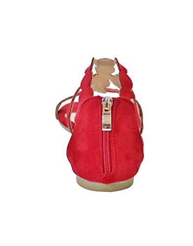 By Shoes -Sandalias para Mujer Rojo