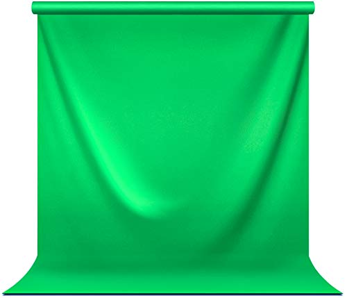 Julius Studio 5 ft.(W) X 10 ft.(H) Green Chromakey Photo Video Studio Fabric Backdrop, Background Screen, Pure Green Muslin, Photography Studio, JSAG510