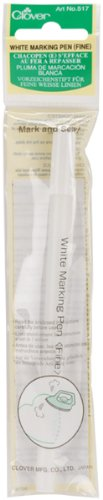 g Pen Fine Point-White 1 pcs sku# 644668MA (Clover Water Soluble Marker)