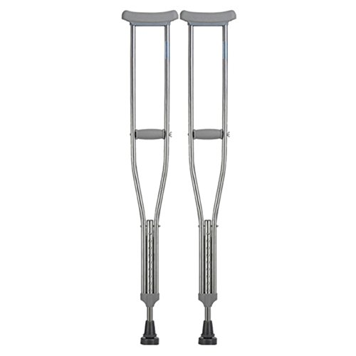 (LIULIFE Crutch Armpit Single Anti-slip Anti-slip Aluminum Alloy Retractable Handicapped Elderly Double Walker,2PCS-M)
