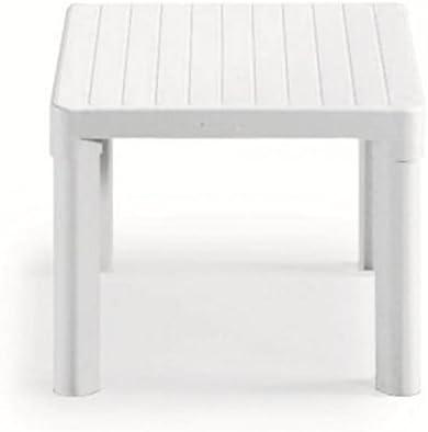Mesa baja para exterior blanco, Mesa Resina 47 x 47 x 38h, mesa para jardín: Amazon.es: Hogar