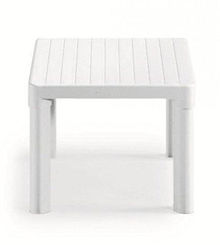 Tavolino Basso Da Giardino.Ideapiu Tavolino Da Giardino Basso Per Esterno Bianco