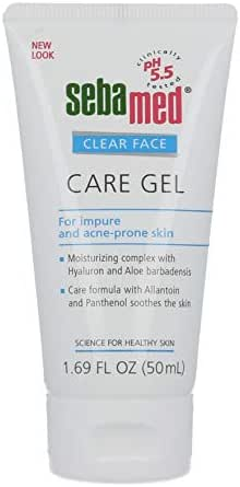 Sebamed Clear Face Care Gel with Hyaluronic Acid Aloe Vera and Provitamin B5 for Acne Pimple and Blackhead Prone Skin 1.69 Fluid Ounces (50 Milliliters)