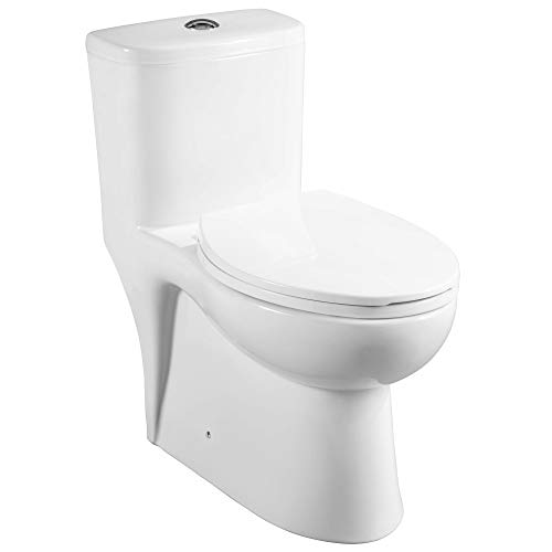 Mirabelle MIRAL241WH Alledonia One-Piece High Efficiency ADA Height Toilet with Elongated Bowl and 12