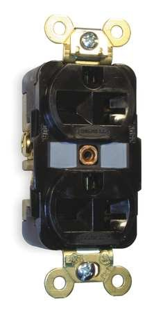 Receptacle, Duplex, 20A, 6-20R, 250V, Brown