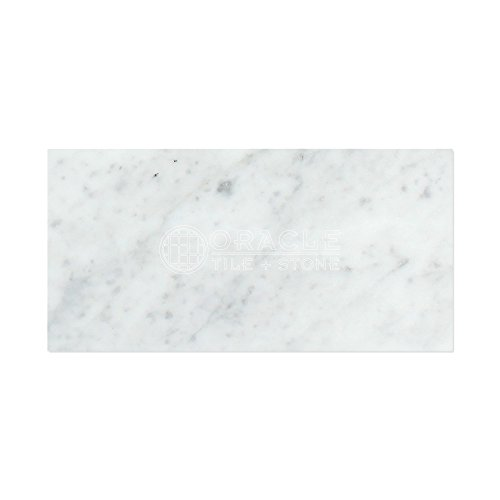 Carrara White Italian (Bianco Carrara) Marble 12 X 24 Field Tile (Lot of 100 pcs. (200 sq. ft.), Polished)