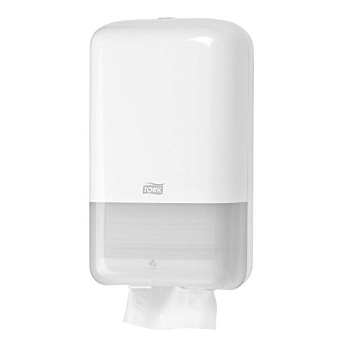 Tork 556000 Elevation Folded Toilet Paper Dispenser, 15.9 cm x 27.1 cm x 12.8 cm, White