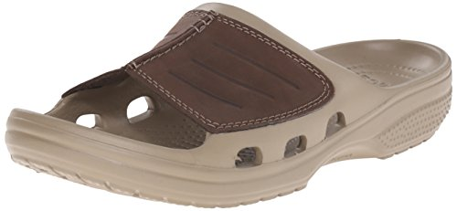 crocs Men's Yukon Mesa Slide M Fisherman Sandal, Khaki/Espresso, 9 M US ()