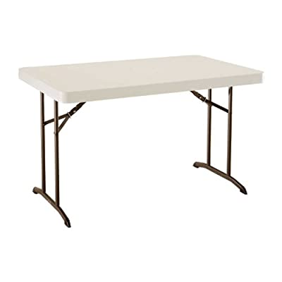 22645 Lifetime 4ft 48inx30in Almond Bronze Frame Commercial Folding Table