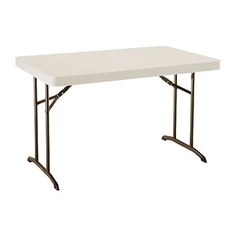 Lifetime 22645 Commercial Folding Table, 4 Feet, Almond