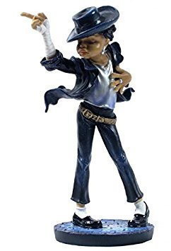 8.75 Inch Michael Jackson Dancing Inspired Statue Figurine, Black