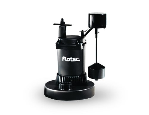 Flotec FPZS50V Pump, Submersible Thermoplastic Sump - 1/2 HP, 4,200 GPH Max by Flotec