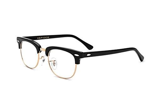 HEPIDEM Acetate Men Round Prescription Spectacles Optical Glasses Frame 5154 (Black - Online Order Glasses Prescription Designer