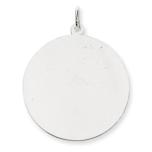 Icecarats Créatrice De Bijoux En Or 14K Blanc Ordinaire 0,035 Jauge Ronde Charme De Disque Gravable