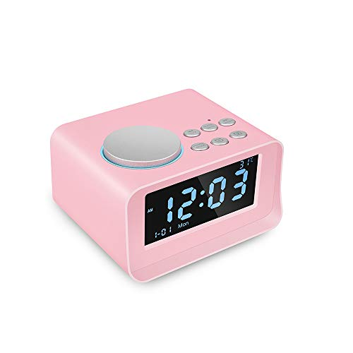 Bluetooth Speaker, Alarm Clock Radio Card Music Player Mini Stereo Can Be Used for Bedroom Living Room Study -