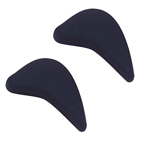 (Xisheep 1 Pairs Sponge Half Insole Cushion Front Foot Shoe Pads High Heel Metatarsal Shoe Inserts Black)