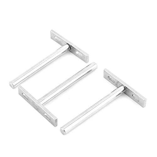 uxcell Stainless Steel Furniture Cupboard T Shaped Shelf Support Holder Stand Bracket 3pcs from uxcell