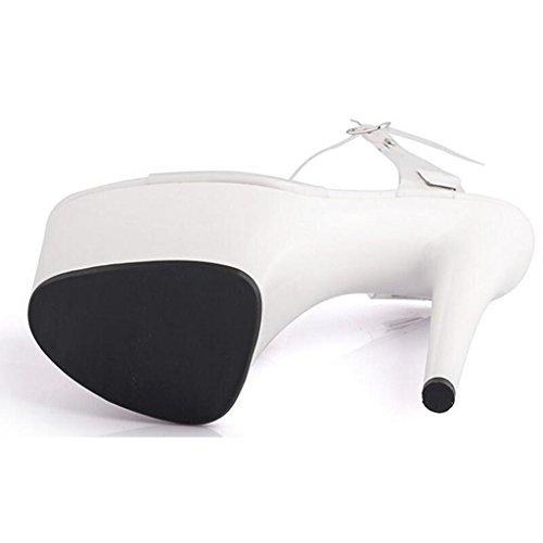 Cristal En Banquet Sandales Travail Chaussures Hauts C Plate Épais Femme Llp Imperméable Modèle De Fond forme Talons UnwB7C7q1