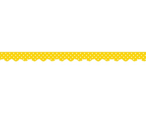 (Teacher Created Resources Yellow Mini Polka Dots Border Trim, Yellow (4668) )