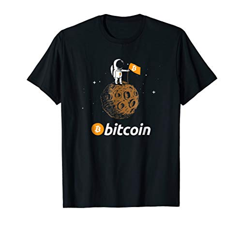 Bitcoin BTC Crypto to the Moon Shirt Featuring Astronaut
