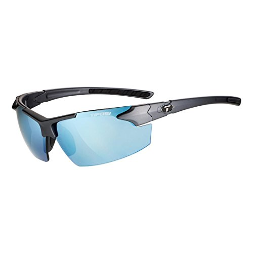 Tifosi Optics Jet FC Sunglasses Matte Gunmetal/Smoke Bright Blue, One Size - - For Sunglasses Budget Best Men