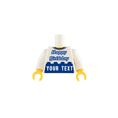 firestartoys com Engraved Customized LEGO Minifigure Torso - Happy Birthday  Blue - Customize with your own text