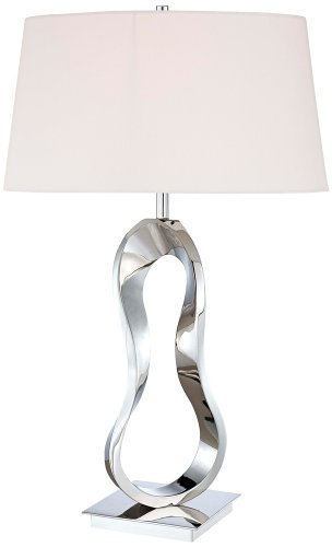 Kovacs P722-613 Energy Smart 1 Light Table Lamp in Polished Nickel by George Kovacs by Kovacs
