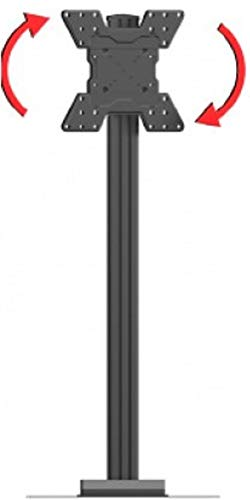 Crimson AV S55VLP Floor Stand with VESA 400 Adapter and Post-Installation Landscape to Portrait Rotation, Black, 150lb (68kg) Weight Capacity, 400x400mm Max Mounting Pattern by Crimson AV (Image #1)