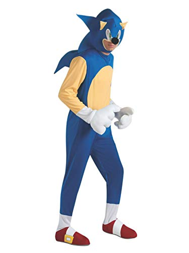 Sonic The Hedgehog Deluxe Adult Costume, Blue, Standard -