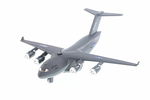 Boeing C-17 Globemaster Pullback Plane, Gray - Daron TM9020 - Diecast Model Military Vehicle